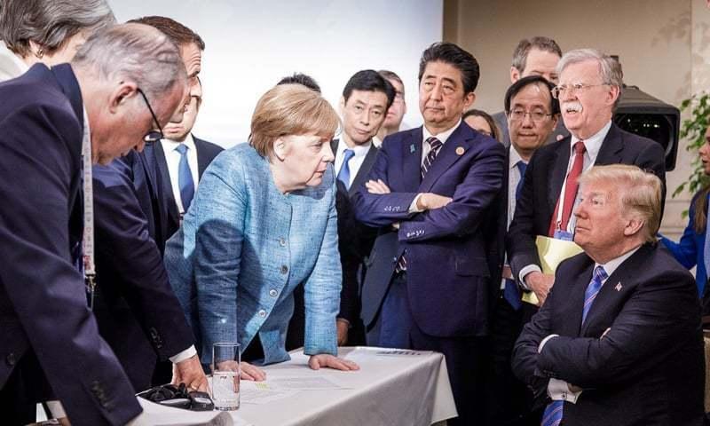 جرمن چانسلر اینجیلا مارکل کے دفتر سے جاری ہونے والی تصویر — فوٹو، ڈان اخبار