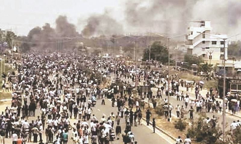 VIOLENT protests at Sterlite copper plant in Thoothukudi, Tamil Nadu, on May 22.—The Statesman