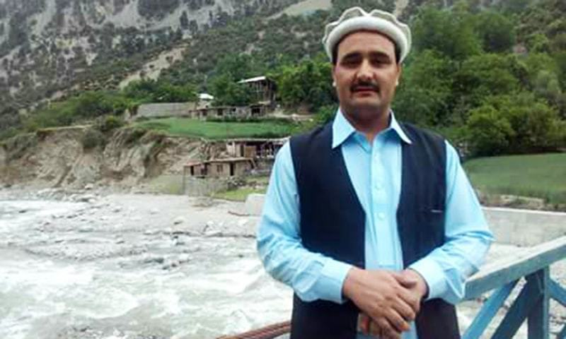 Wazir Zada, the Kalash community hopeful nominated for a minority seat. —Photo by author