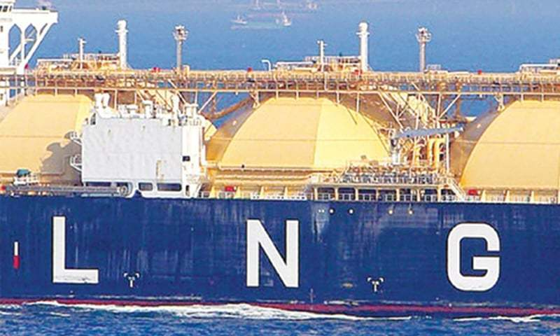 An LNG vessel prepares to dock. Pakistan's reliance on imported LNG has grown massively in three years, and is set to grow till it matches supplies of domestic gas in the system in the next five years.