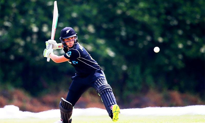 17-year-old Amelia Kerr breaks a 21-year-old record and is the youngest ever to score a double-century across formats in men's or women's internationals. ─ Photo courtesy White Ferns Twitter