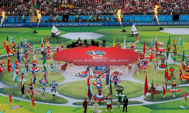 ورلڈ کپ 2018 کا شاندار افتتاح، روس کا فاتحانہ آغاز