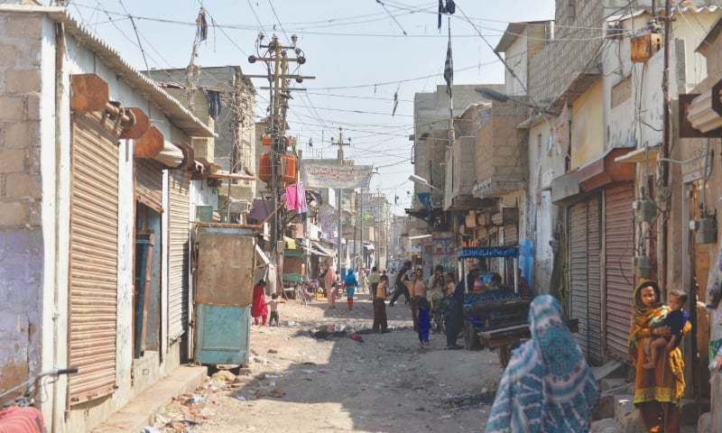 MEMBERS of the Bengali community in Karachi, such as the residents of Machhar Colony seen here, say they face major obstacles without legal documents.—Fahim Siddiqi / White Star