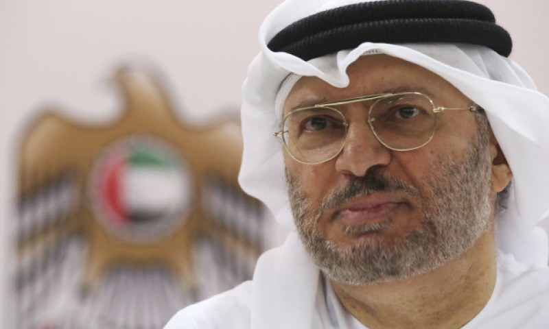 Emirati Minister of State for Foreign Affairs Anwar Gargash.—AP