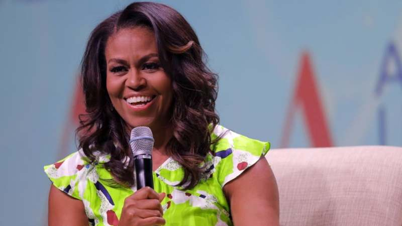 The former US first lady said that her upcoming book Becoming gave her a chance to reflect on the whirlwind of her life