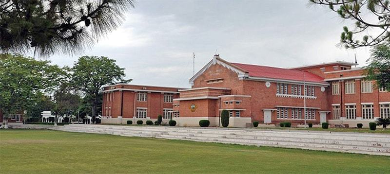 The main building of Hassanabdal Cadet College.