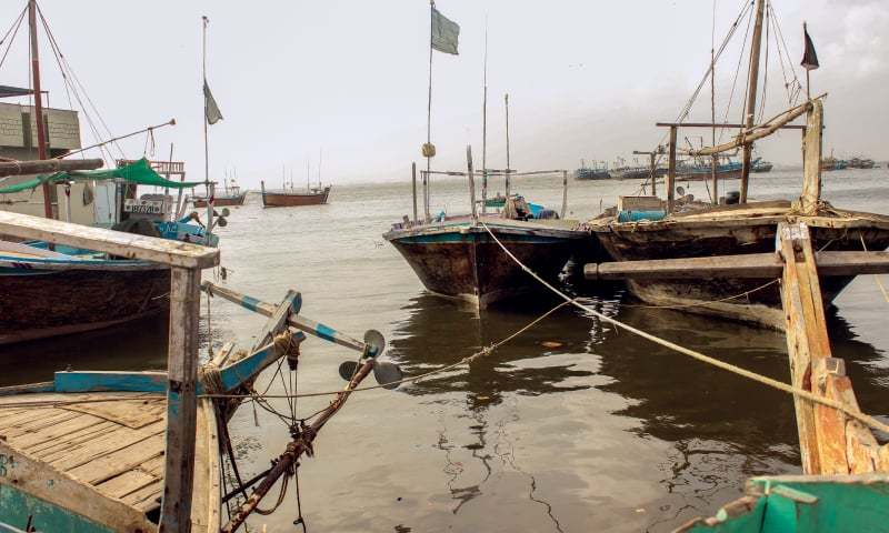 Boats and launches are parked aside as fishing season is off | Photos by the writer