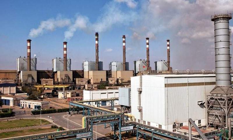 A view of K-Electric's Bin Qasim Power Station II in Bin Qasim area.