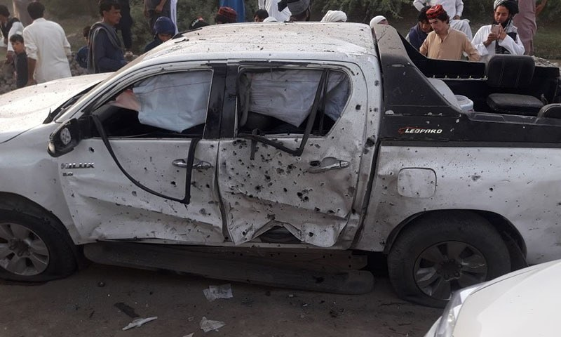 MMA's candidate from PK-89 Sherin Malik was campaigning in Takhti Kheil area of Bannu when a blast targeted his convoy. —DawnNewsTV