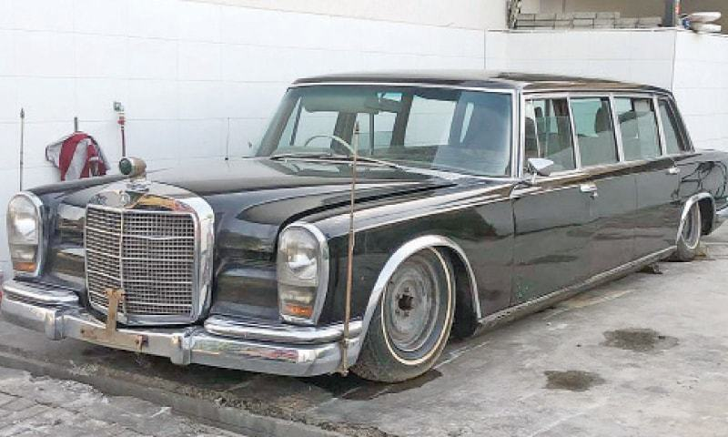 Mercedes Benz 600 Pullman has remained in use of former prime minister Zulfikar Ali Bhutto and former president Ziaul Haq. — White Star