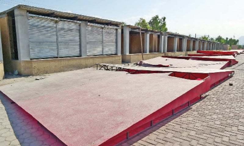 The food street built in Hayatabad, Peshawar. — White Star