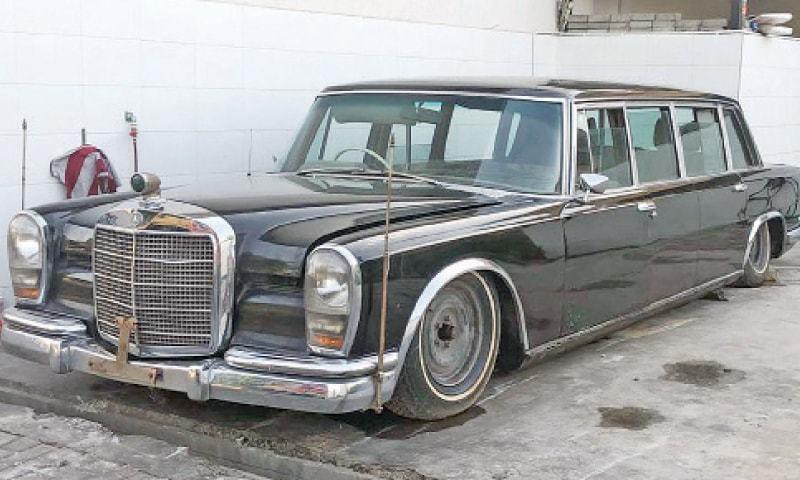 کلاسک گاڑی مرسڈیز بینز 600 پلمین دنیا کی معروف شخصیات کی خاص پسند رہی ہے—فوٹو:وائٹ اسٹار