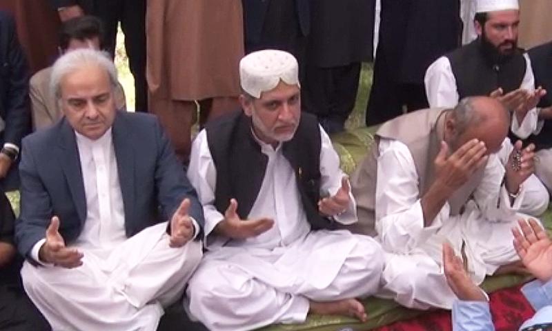 PM Nasirul Mulk offers fateha for Mastung attack victims. — DawnNewsTV