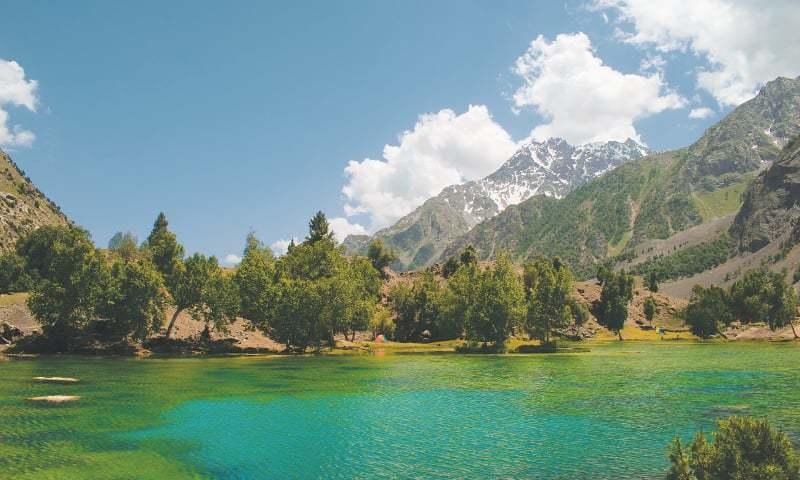 The multi-coloured Satrangi Lake
