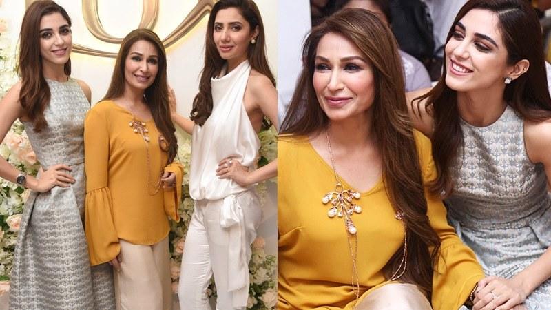 Mahira Khan, Maya Ali and Reema Khan attend the Lux Flower Bliss soiree at The Deli, Karachi.
