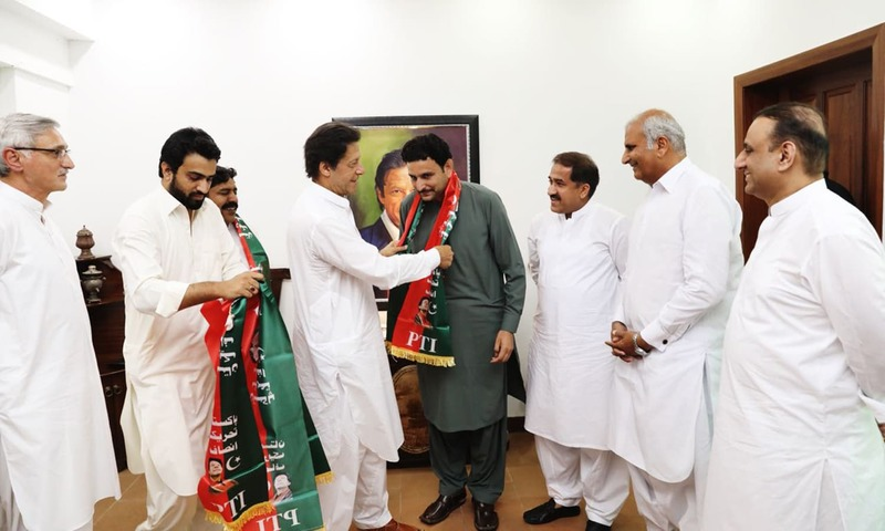 Candidates from Kabirwala, Layyah and Dera Ghazi Khan welcomed into the PTI fold. —Photo provided by author