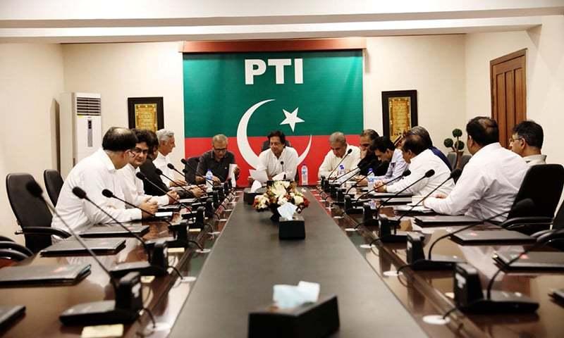 MQM delegation meets PTI members to sign the Memorandum of Understanding. —PTI media wing
