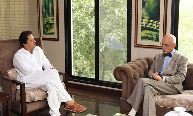 Imran Khan in discussion with Jean Francois Cautain — Photo provided by author