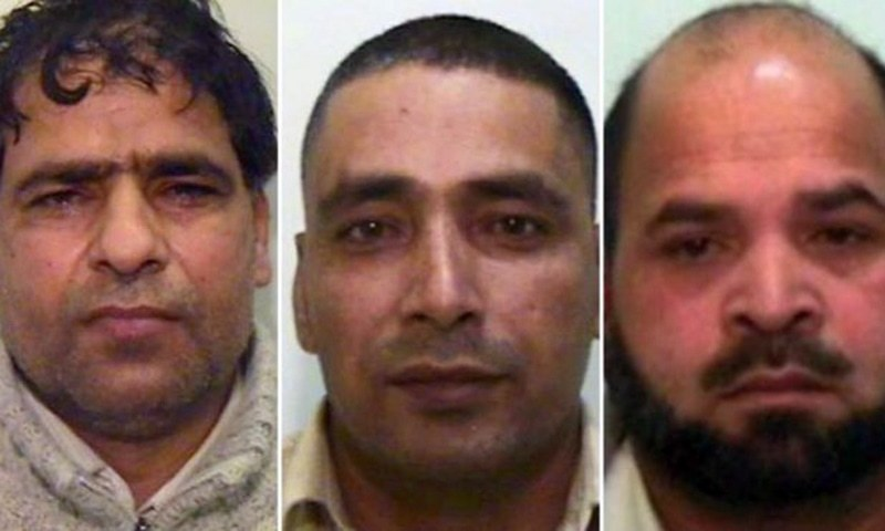 (Left to right) Abdul Aziz, Adil Khan and Qari Abdul Rauf. Photo courtesy: BBC/UK police
