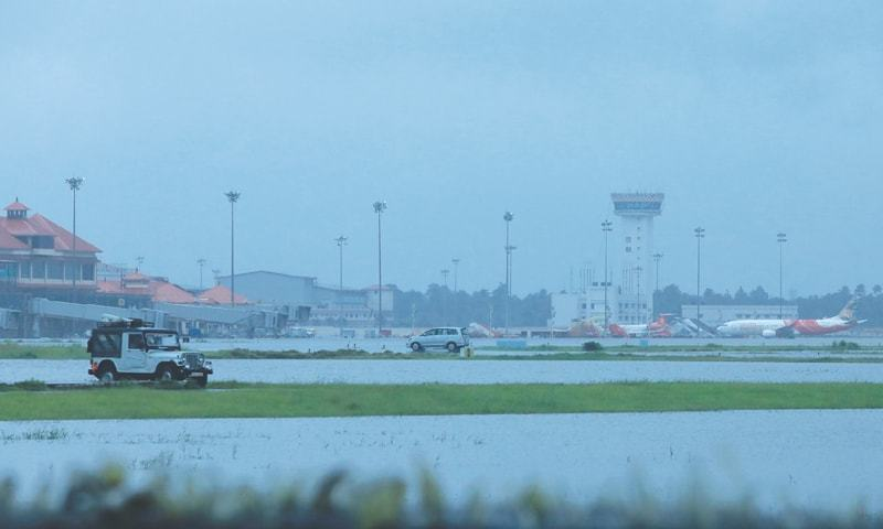 KOCHI (Kerala, India): Kochi's International airport is seen flooded following monsoon rains on Wednesday.—AFP