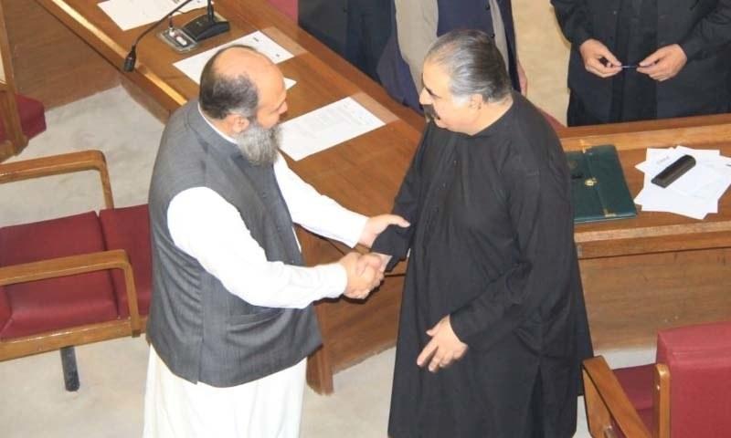 Jam Mir Kamal Khan Alyani with former CM Balochistan Nawab Sanaullah Zehri — DawnNewsTV