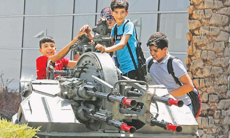 OPENED in 2012, the Holy Defence Museum in Tehran draws more than 300,000 visitors per year, including young men and schoolchildren on trips organised by Islamic institutions.—AFP