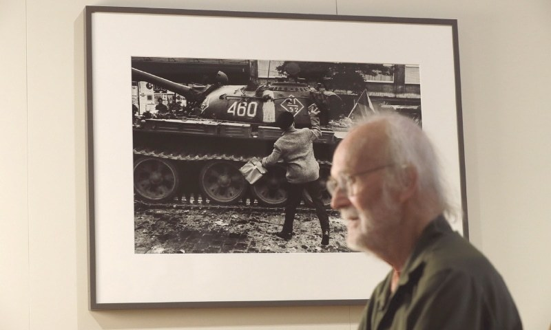 PHOTOGRAPHER Josef Koudelka answers questions in a rare media interview at his retrospective exhibition Returning at the Museum of Decorative Arts in Prague, Czech Republic, on Aug 10.—AP