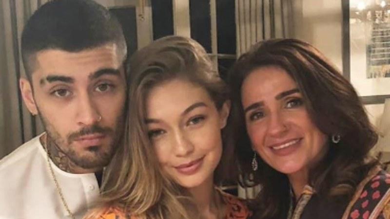 Zayn Malik, Gigi Hadid pictured with Malik's mother