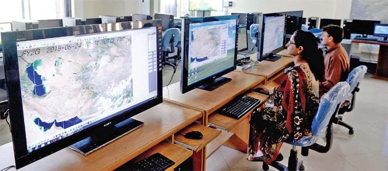 Met Office staffers monitor weather data and analyse it round the clock.