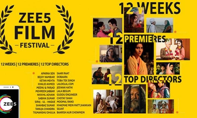 میلے میں 12 فلمیں نشر کی جائیں گی—فوٹو: زی فائیو