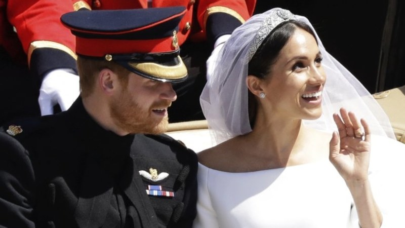 Fans will be able to get a close look at the bride's Givenchy wedding dress, 16-foot veil and tiara the Queen loaned her