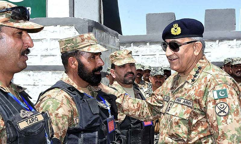 Chief of Army Staff General Qamar Javed Bajwa during his visit to South Waziristan. — APP