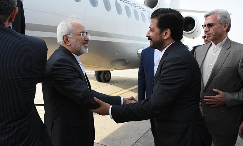 Iran's Foreign Minister Javad Zarif lands in Islamabad — Photo by author