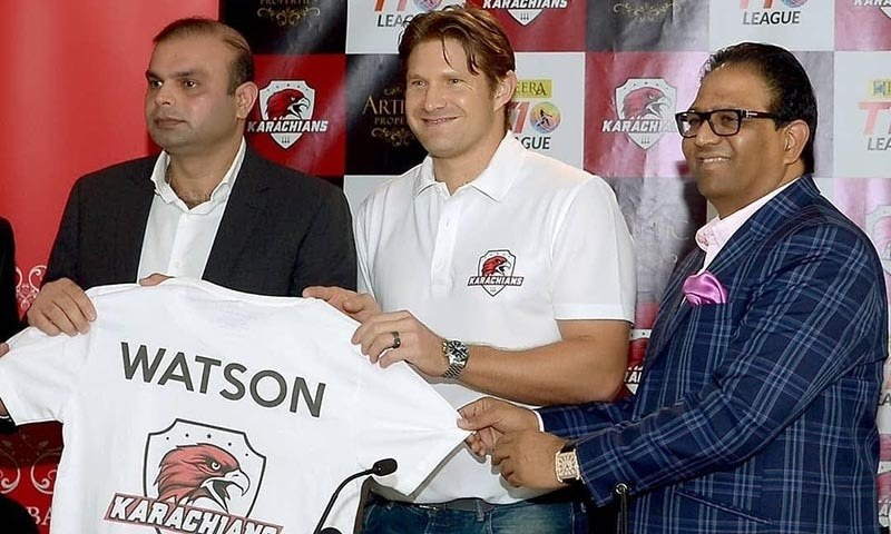 Shane Watson signs for the Karachians — T10 League