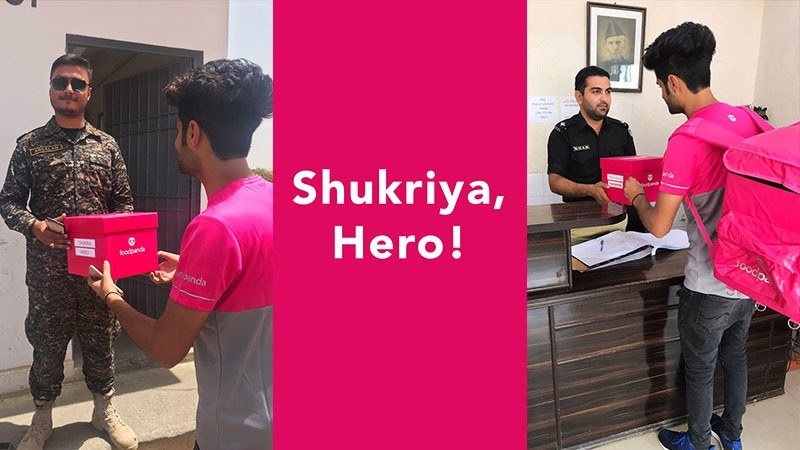 The brand decided to personally thank our heroes by handing over cute little pink boxes holding exciting presents!