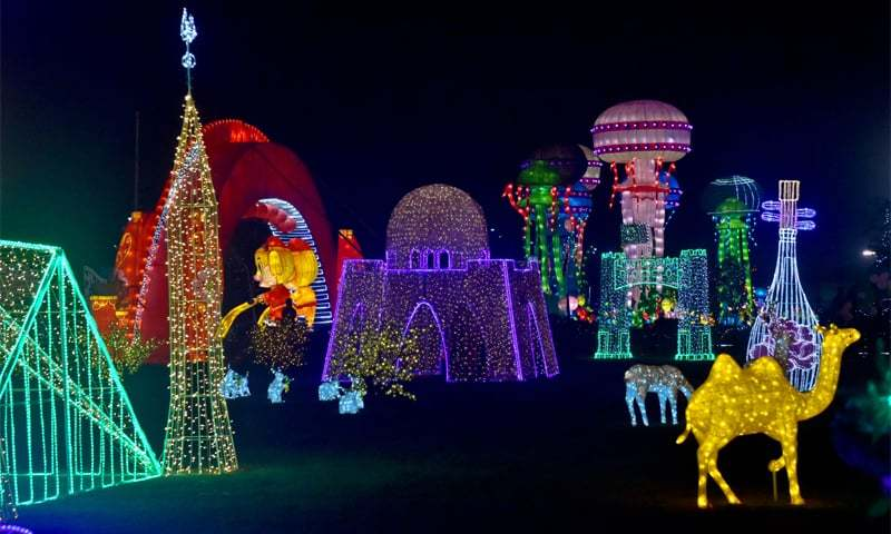 Bunny rabbits, deers, a camel and famous landmarks of Pakistan at the Pakistan China Lantern Festival | Photos by Fahim Siddiqi / White Star