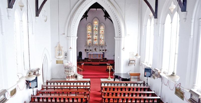 The pews of Holy Trinity Church were installed more than 150 years ago.