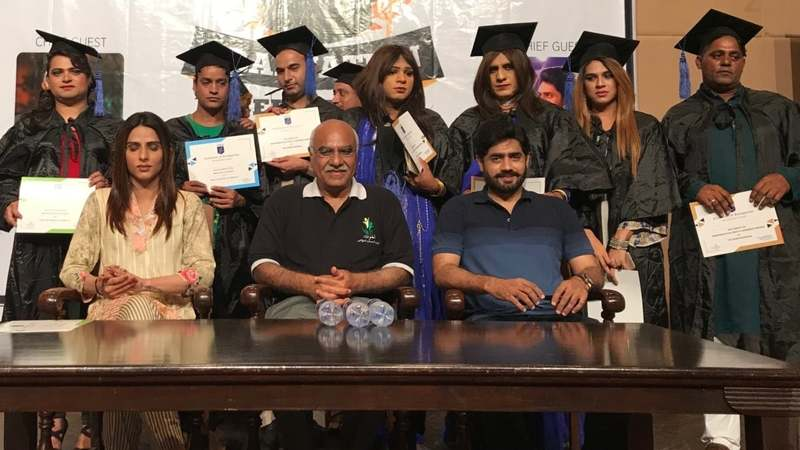 The Gender Guardian's graduation ceremony was attended by Kami Sid and Abrar ul Haq