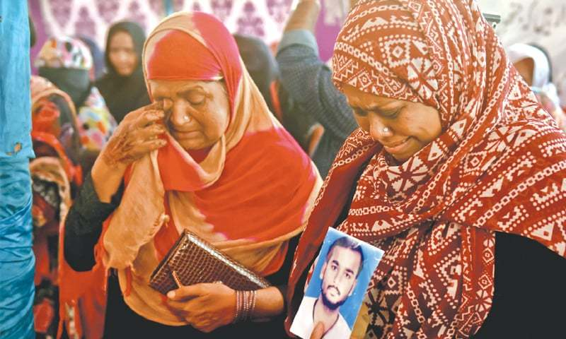 The pain is still fresh for the families of Baldia factory fire victims.—Fahim Siddiqi/White Star