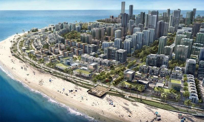 کولمبو میں تعمیر ہونے کے بعد شہر کچھ ایسا ہوگا — فوٹو بشکریہ چائنا ہاربر انجنیئرنگ کمپنی