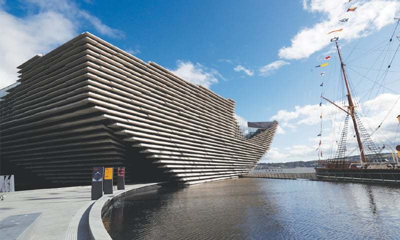 DUNDEE: The first offshoot of the Victoria and Albert Museum outside London situated on the banks of the River Tay in Scotland on Wednesday.—Reuters