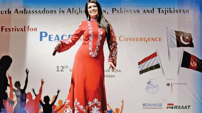 Singer from Tajikistan performs at the festival on Thursday. — White Star