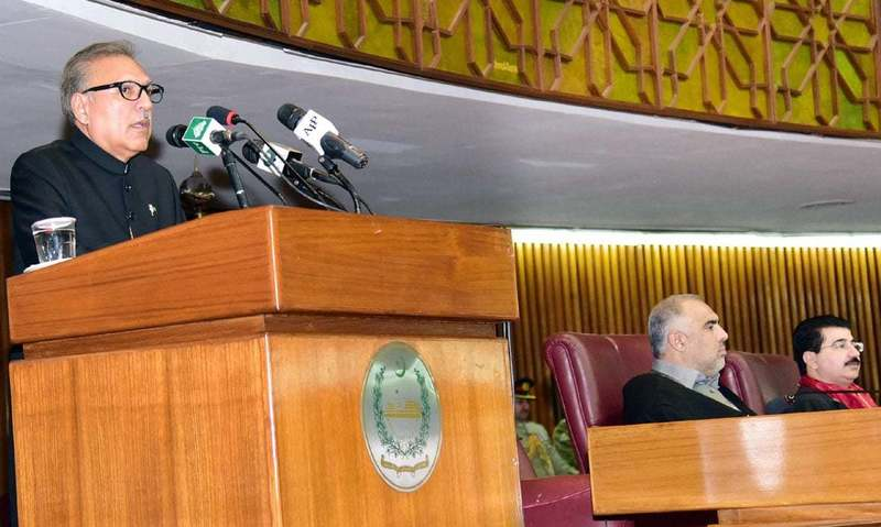 """""""I wish that we all take part in the austerity initiatives in an effort to create <em>Naya Pakistan</em>,"""" says President Alvi. —PID"""