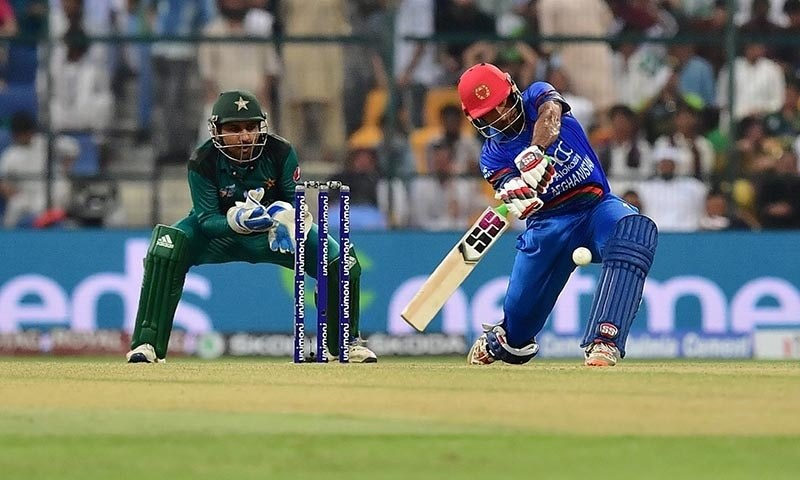 Afghanistan captain Mohammad Asghar plays a shot during the ODI Asia Cup cricket match between Pakistan and Afghanistan — AFP