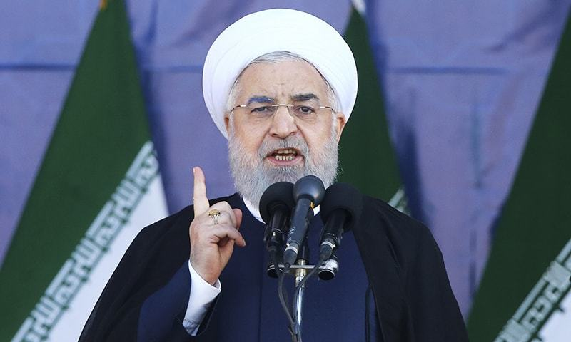 "Iran's President Hassan Rouhani said ""the response of the Islamic Republic of Iran to the smallest threat will be crushing"". —AP"