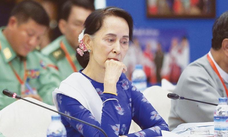 Aung San Suu Kyi's reputation has become tarnished by her refusal to call out the atrocities against the Rohingya — File