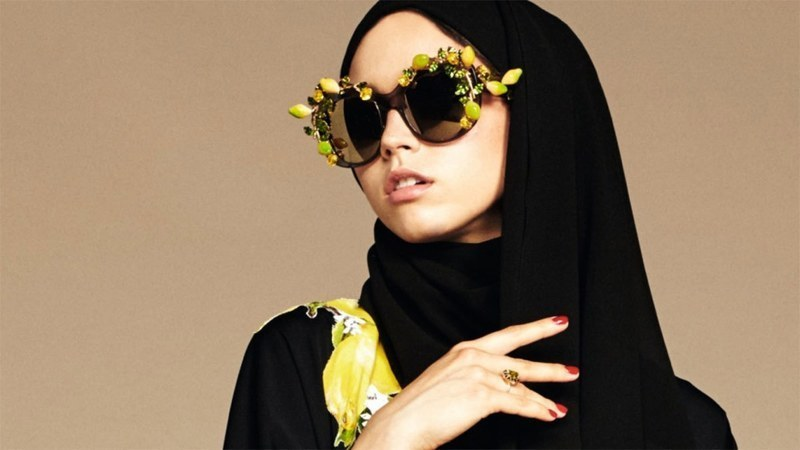 A file photo of a model wearing a hijab.