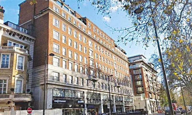 Avenfield apartment building on London's Park Lane. — Photo/File