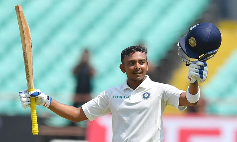 India vs West Indies | Prithvi Shaw scores century in Test debut