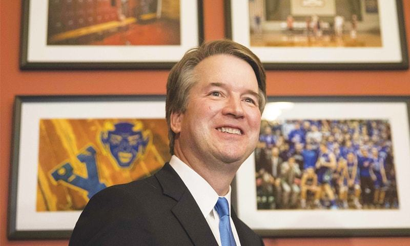 Kavanaugh steps away from being confirmed as US Supreme Court judge